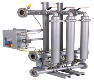 Tube and pipe type automatic backwash filter